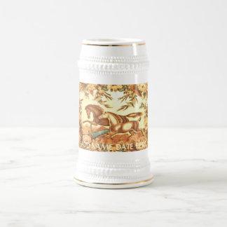 Vintage Equestrian Horse Stein or travel Mug