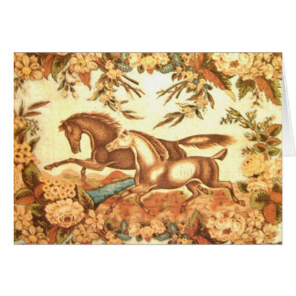 Vintage Equestrian Horse Thank You Card