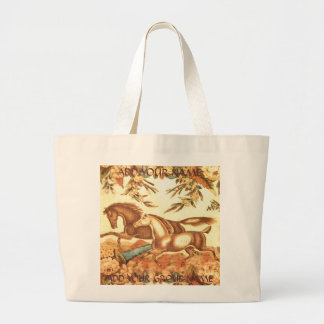 Vintage Equestrian Horse tote add text Canvas Bag
