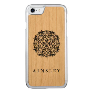 Vintage Equestrian Kaleidoscope Carved iPhone 7 Case