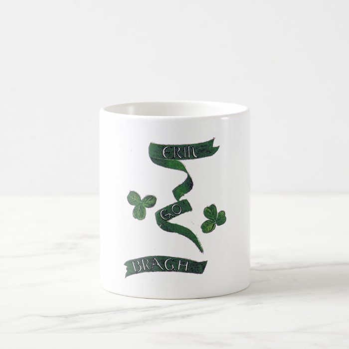Vintage Erin Go Bragh Clover Ireland Irish Pride Coffee Mug
