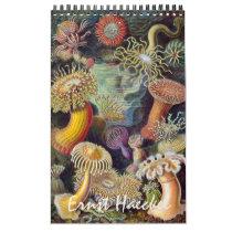 Vintage Ernest Haeckel, Biology, Botany, Science Calendar