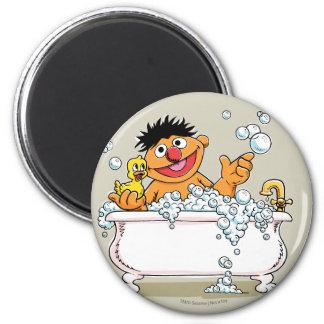 Vintage Ernie in Bathtub 2 Inch Round Magnet