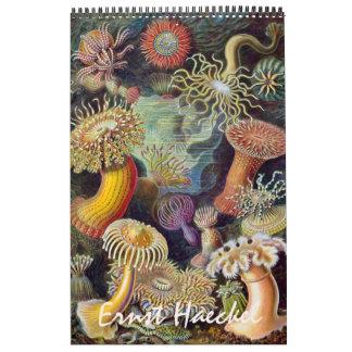 Vintage Ernst Haeckel, biología y ciencia de la Calendarios