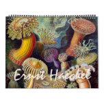 Vintage Ernst Haeckel, Biology and Botany Science Calendar