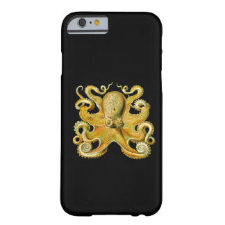 Vintage Ernst Haeckel Octopus in Yellow Barely There iPhone 6 Case