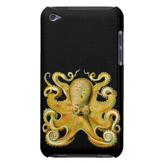 Vintage Ernst Haeckel Octopus in Yellow iPod Touch Case-Mate Case