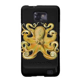 Vintage Ernst Haeckel Octopus in Yellow Samsung Galaxy S Cover