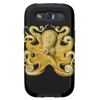 Vintage Ernst Haeckel Octopus in Yellow Samsung Galaxy SIII Cover