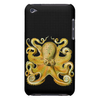 Vintage Ernst Haeckel Octopus in Yellow iPod Touch Cases