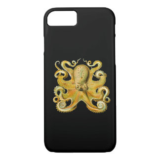 Vintage Ernst Haeckel Octopus in Yellow iPhone 8/7 Case