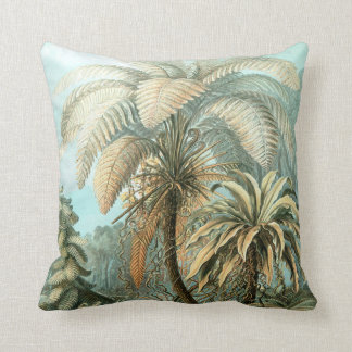Vintage Ernst Haeckel Palms Throw Pillow
