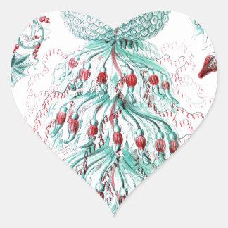 Vintage-Ernst-Haeckels-Kunstformen-Blue Jelly Heart Stickers
