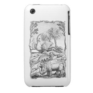 Vintage Erroneous Animal Illustration iPhone 3 Case-Mate Cases