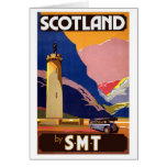 Vintage Escocia Tarjeta Pequeña