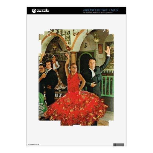 Vintage España, bailarines del flamenco iPad 3 Pegatina Skin