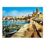 Vintage España, costa de Sitges Tarjetas Postales