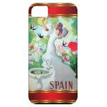 Vintage España de la caja de la casamata de IPhone iPhone 5 Case-Mate Fundas