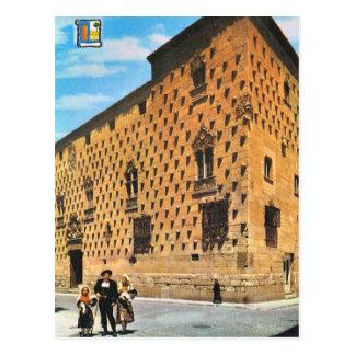 Vintage España, Salamanca, casa de cáscaras Tarjetas Postales