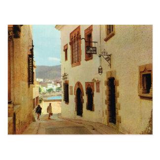 Vintage España, Sitges, casas en la ciudad vieja Postal
