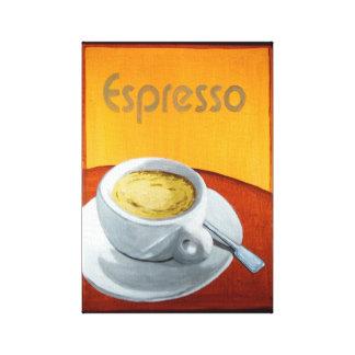 Vintage Espresso Coffee Canvas Print