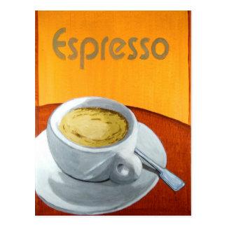Vintage Espresso Coffee Postcard