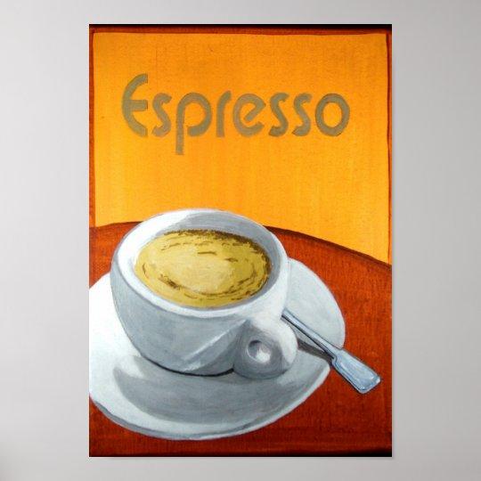 Vintage Espresso Coffee Poster | Zazzle.com