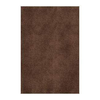 Vintage Espresso Dark Brown Antique Paper Template Canvas Print