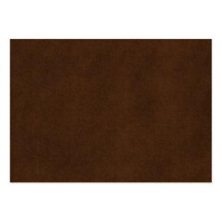 Vintage Espresso Dark Brown Parchment Paper Blank Large Business Cards (Pack Of 100)