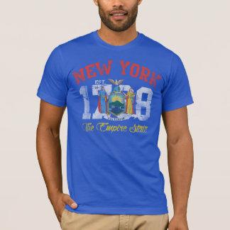 Vintage Est 1788 New York Empire State Flag T-Shirt