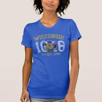 Vintage Est 1848 Wisconsin State Flag T-Shirt