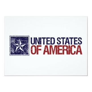 """Vintage Estados Unidos con la estrella - 4ta de Invitación 5"""" X 7"""""""
