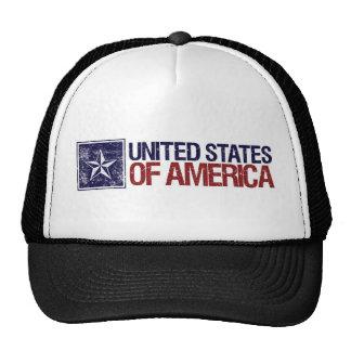 Vintage Estados Unidos con la estrella - 4ta de ju Gorros Bordados