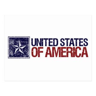 Vintage Estados Unidos con la estrella - 4ta de Tarjeta Postal
