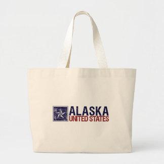Vintage Estados Unidos con la estrella - Alaska Bolsa De Mano