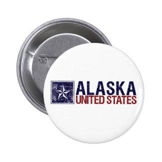 Vintage Estados Unidos con la estrella - Alaska Pin