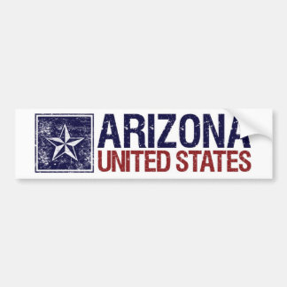 Vintage Estados Unidos con la estrella - Arizona Etiqueta De Parachoque