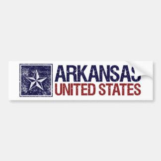 Vintage Estados Unidos con la estrella - Arkansas Etiqueta De Parachoque