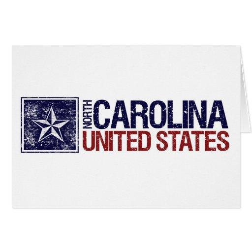 Vintage Estados Unidos con la estrella - Carolina Tarjeta De Felicitación