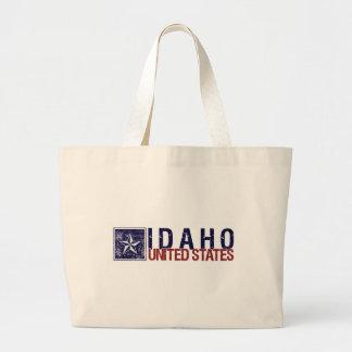 Vintage Estados Unidos con la estrella - Idaho Bolsa Lienzo
