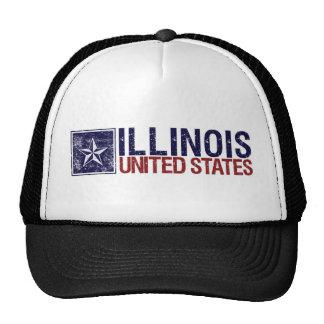 Vintage Estados Unidos con la estrella - Illinois Gorro De Camionero