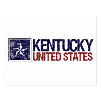 Vintage Estados Unidos con la estrella - Kentucky Postales
