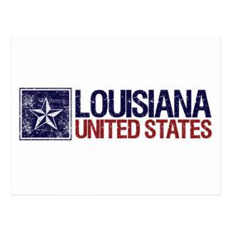 Vintage Estados Unidos con la estrella - Luisiana Tarjetas Postales
