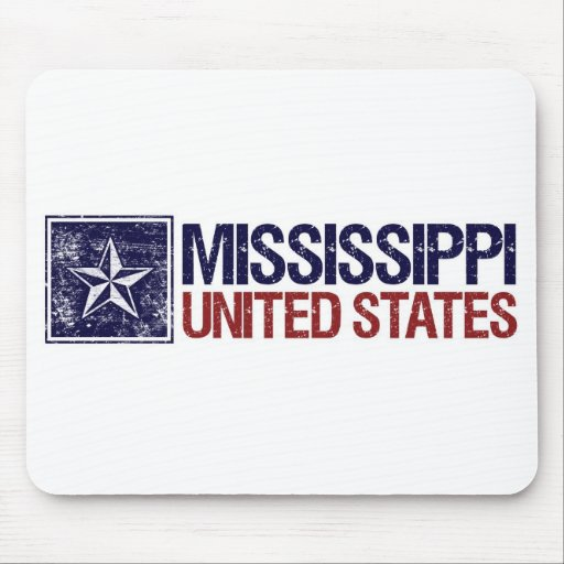 Vintage Estados Unidos con la estrella - Mississip Mouse Pad