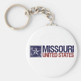Vintage Estados Unidos con la estrella - Missouri Llavero