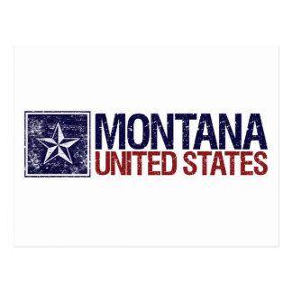 Vintage Estados Unidos con la estrella - Montana Postales