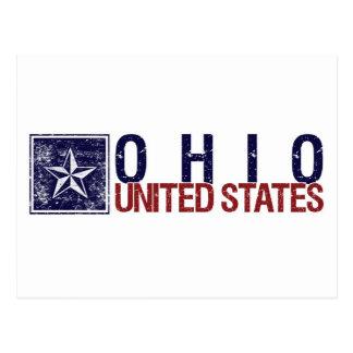 Vintage Estados Unidos con la estrella - Ohio Postales