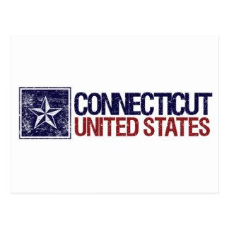 Vintage Estados Unidos con la estrella - Postal