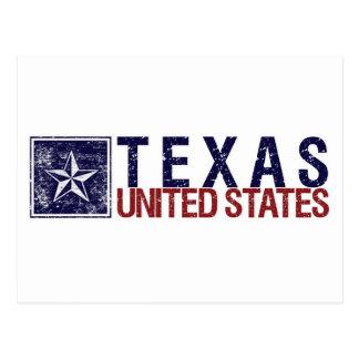 Vintage Estados Unidos con la estrella - Tejas Postal