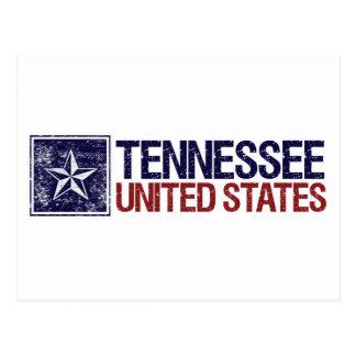 Vintage Estados Unidos con la estrella - Tennessee Tarjeta Postal